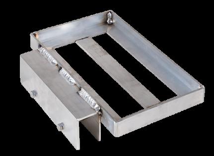 Porta-Dock aluminum battery tray for boat lifts