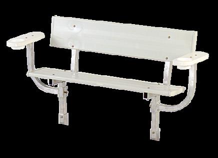 Porta-Dock aluminum bench