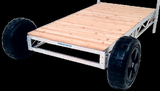 Porta-Dock non-adjustable shore end wheel kit