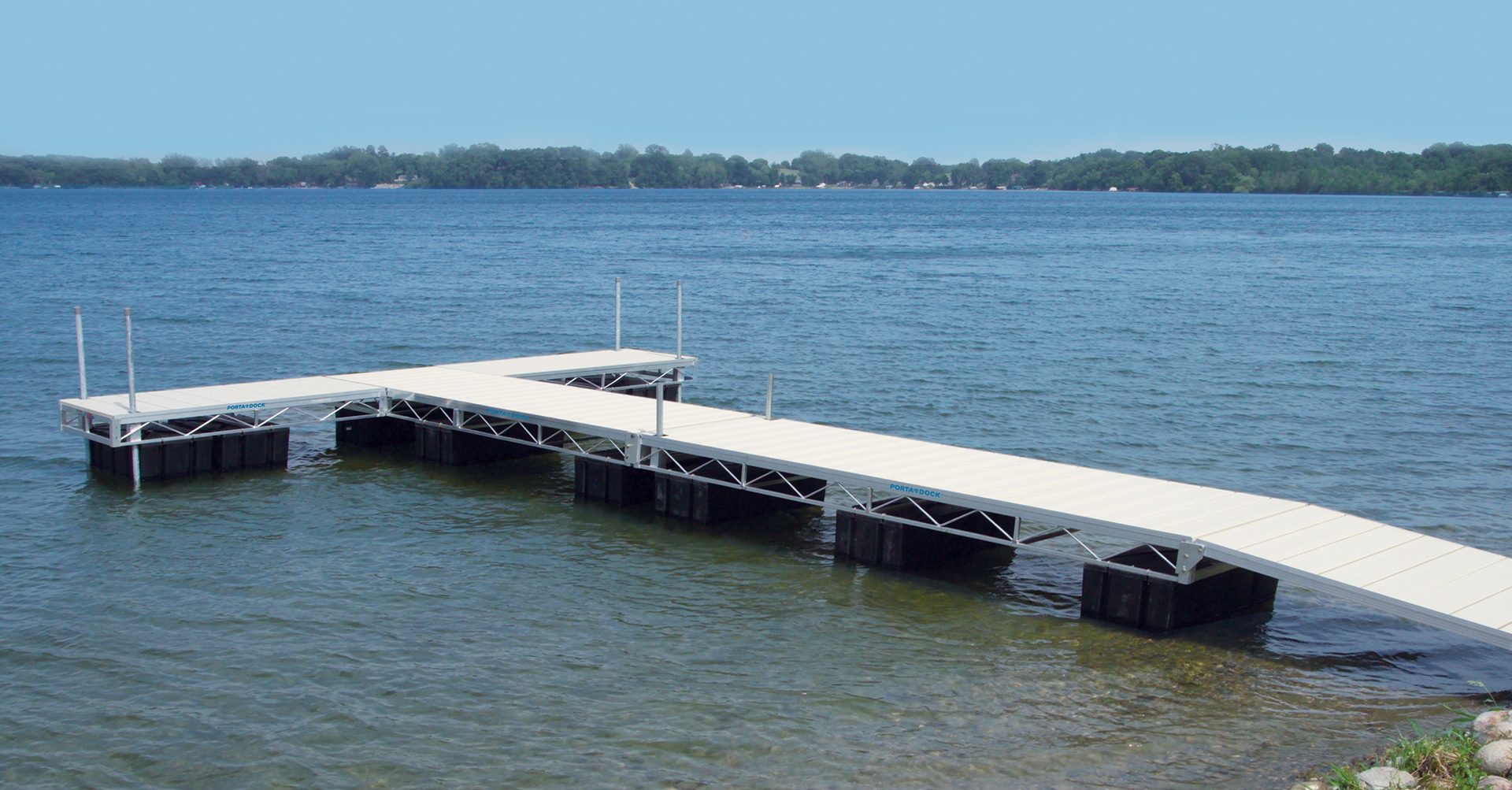 Porta-Dock floating dock on the lake