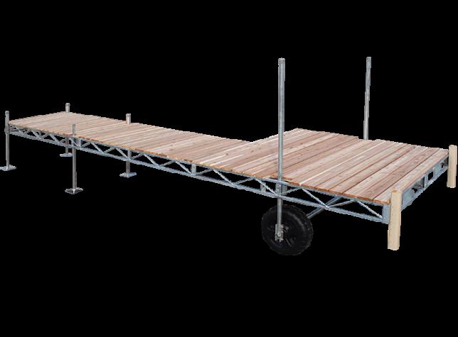 Porta-Dock galvanized steel roll-in dock