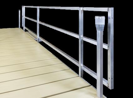 Porta-Dock lightweight aluminum hand rails