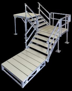 Porta-Dock adjustable shore steps