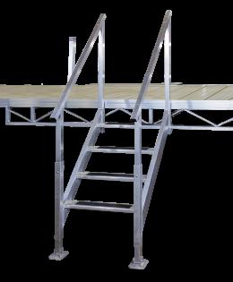 Porta-Dock non-adjustable aluminum steps