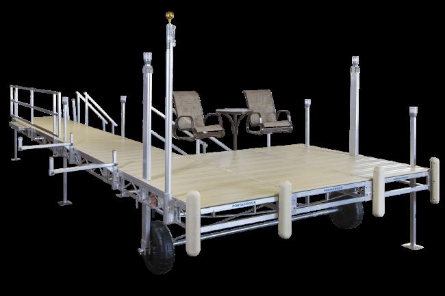 Porta-Dock aluminum roll-in dock with accessories