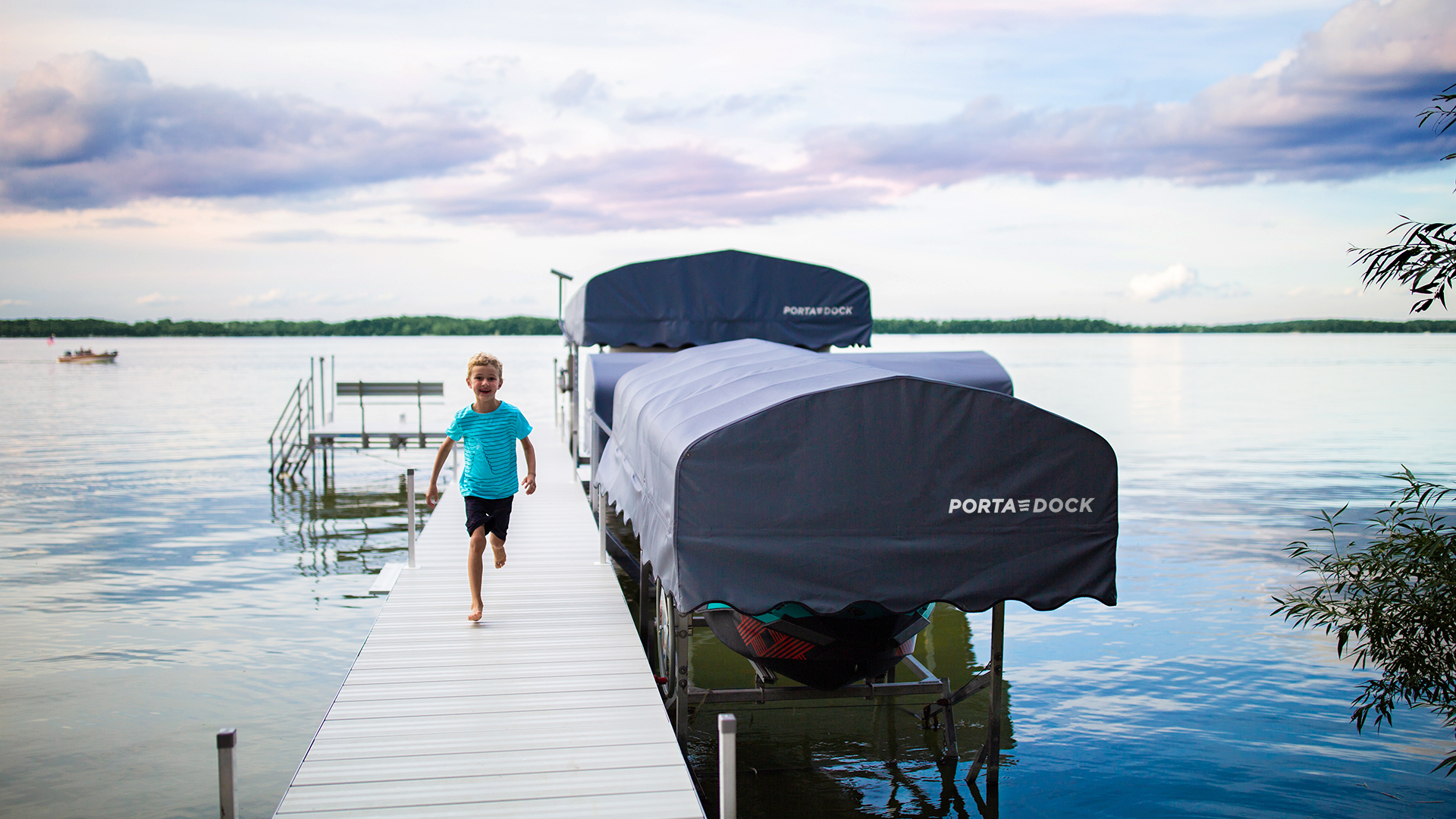 Child enjoying the summer on a Porta-Dock dock