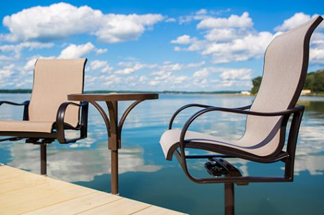 Porta-Dock table and chair set