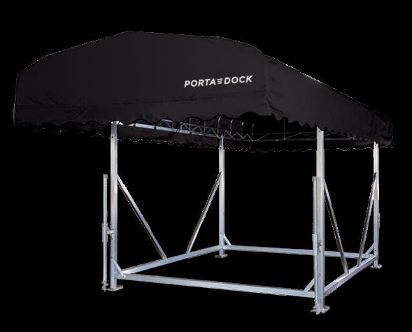 Porta-Dock black free standing canopy