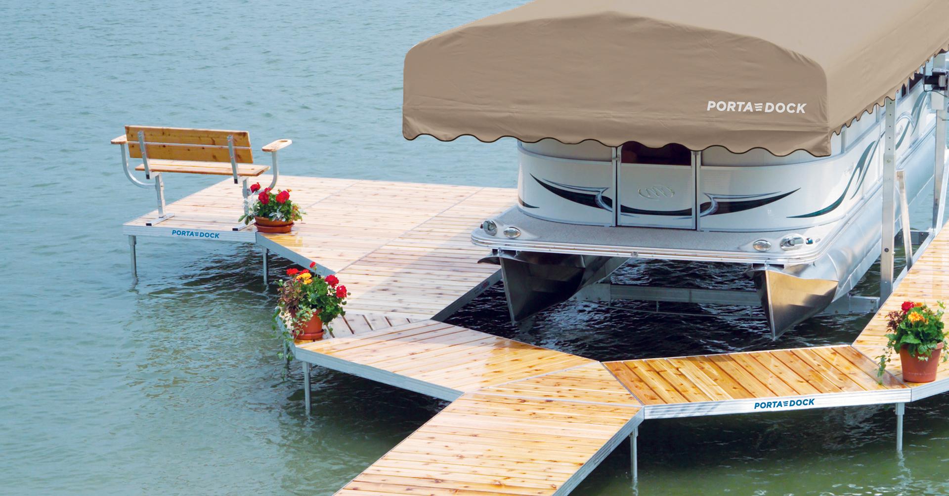Porta-Dock post dock with Cedar decking